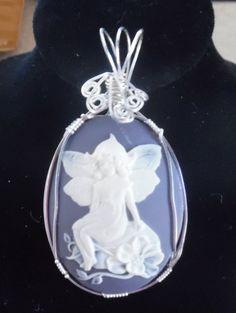Faerie Cameo Pendant Necklace Handmade by TheSpiritualCenter