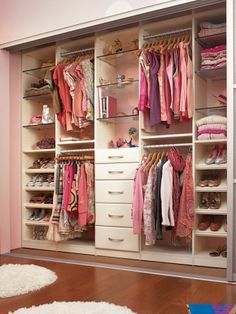 Omg I want this. Easy enough to create. This will be the layout of my daughters closet. With an add section for dresses & winter coats & more jewelry space.