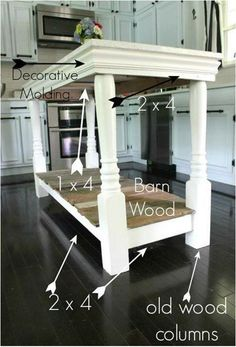 DIY Kitchen Island (photo only)