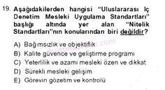 İşletme bölümü, 4. sınıf, DENETİM (isl401u) dersi, 2014 yılı, GÜZ dönemi, ARA SINAV , 19.soru