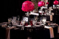 Hollywood Glam decor for your tables
