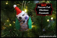 Pinecone Owl Christmas Craft