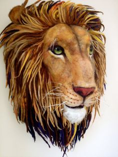 Needle Felted Aslan from Narnia  WOW!!!