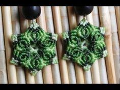 como hacer aros macrame con forma de flor Es.PandaHall.com