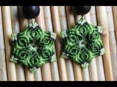 como hacer aros macrame con forma de  flor