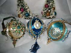 Retro Beaded/Sequined Ornaments....wish I had all of my grandmothers!!! They were so beautiful to me as a child!!!