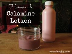 Here's a great recipe for Homemade Calamine Lotion to have on hand.