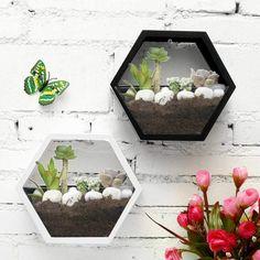 Wall-Mounted Hexagon Flower Pot