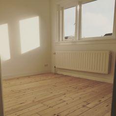 Antiek grenen vloer - behandeld met Glitsa matte lak