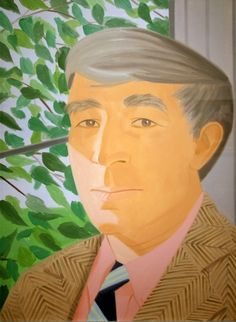 John Updike By Alex katz