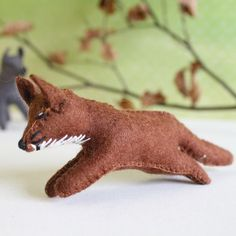 Gluckskafer felt fox by Gluckskafer - Cottontails