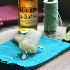 Corona Limeade Popsicles... might have to try these after the baby is born!
