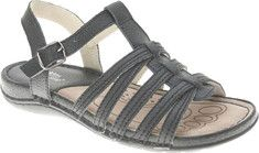 Symphony is a multi-strap sandal with an adjustable back strap and a comfortable padded insole.
