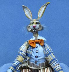 OOAK Handmade Easter Bunny Rabbit Beanie Baby by cre8orstouch, $60.00
