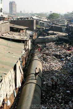 Dharavi Slum . Mumbai