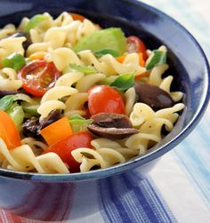 For those of you who prefer your pasta salad without a mayo-based dressing, this recipe is for you. http://www.cautiousvegetarian.ca/recipe/pasta-salad-oregano-vinaigrette/
