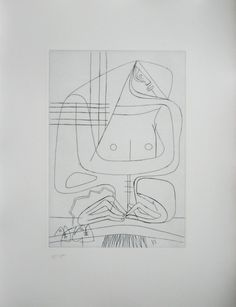 FIVE WOMEN NR. 2 NON by LE CORBUSIER (1953). Copper etching