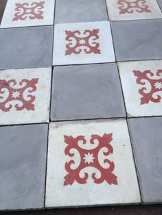 Old cement tiles