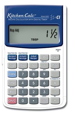 Calculated Industries KitchenCalc 8300 Recipe Calculator with Digital Timer Calculated Industries http://www.amazon.com/dp/B00006L9N9/ref=cm_sw_r_pi_dp_c0eEvb0ZXCVGB
