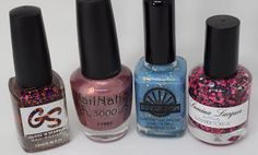 (L to R) Gloss N Sparkle- Symphony NailNation3000- (SOLD)My Wish 4 You Sindie Pop- Get Springy With It Lumina Lacquer- Summer Town $5 each