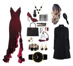"""""""Red Carpet Look"""" by alicia-w-shao ❤ liked on Polyvore featuring Casadei, Prada, Bobbi Brown Cosmetics, OPI, Bee Goddess, Valentino, Marc by Marc Jacobs, Larsson & Jennings, Lana and H&M"""