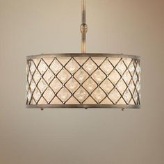 "399 LAMPS PLUS  Jeweled Golden Bronze 18 1/2"" Wide Pendant Light"