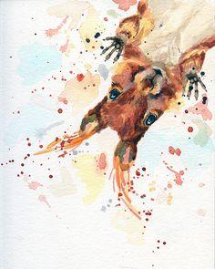 Squirrel Canvas - Animal Art Decor - Woodland Nursery Decor - Squirrel Gift - Wildlife Art - Nursery Decor - Red Squirrel - Cute Woodland - Squirrel Canvas Animal Art Decor Woodland Nursery Decor You are in the right place about minimalist - Woodland Art, Woodland Nursery Decor, Woodland Animals, Watercolor Animals, Watercolor Art, Squirrel Art, Illustration Art, Illustrations, Wildlife Art