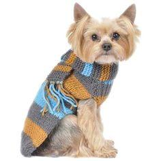 Max's Closet 00112-14 Bold Stripe Sweater with Scarf