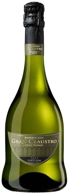 Very intriguing bottle shape! Cava Gran Claustre Brut Nature Reserva 2008