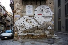 Street art | Mural (Piazza Casa Professa, Palermo, Italy) by EmaJons