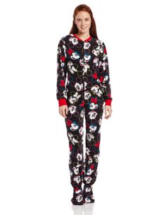 Disney Women's Mickey Minnie Adult One Piece Pajama, Black, Small -- My daughter loves these. - It's very soft, fits her perfectly, but very, very warm. - She is 5'3 and the medium fit her perfectly. http://www.amazon.com/exec/obidos/ASIN/B00F3WDNLS/electronicfro-20/ASIN/B00F3WDNLS