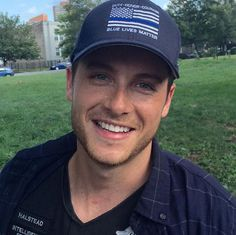 """Jesse Lee Soffer, Chicago PD, rocking law enforcement support. """"The Thin Blue Line."""""""
