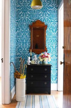 Black, White, Yellow, and Turquoise Entry....: from Pure Style Home