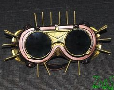 Steampunk Goggles Glasses  Cyber  post Apocalypse by olnat31sun, $25.99