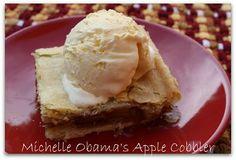 Mommy's Kitchen: Michelle Obama's Overnight Apple Cobbler {Happy Presidents Day}