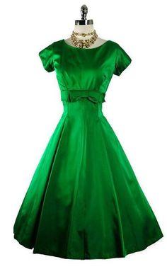 50's green dress