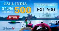 """Amantel #IndiaCallingOffer - Get upto 500% extra #minutes for #India #calling from #USA and enjoy with your #Indian #friends and #Family. Just use this coupon code - """"EXT-500"""" and enjoy your #Indiacalling. Hurry up, offer valid for limited period. Know more, click here - http://www.amantel.com/offers/call-india-3116.html"""