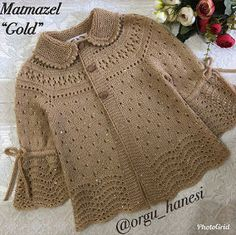 Cümle müslüman aleminin KADİR GECESİ m… Yes, ladies, hello, sentence. Kids Knitting Patterns, Baby Cardigan Knitting Pattern, Knitting For Kids, Knitting Designs, Baby Patterns, Free Knitting, Knit Baby Dress, Crochet Baby Clothes, Cardigan Bebe