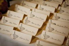 Rustic Bird Escort Cards