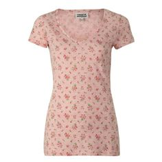 Ditsy Floral Archive Print Cotton Mix Tee Rose   Laura Ashley USA