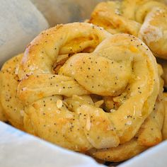 Cheese Stuffed Everything Pretzels Recipe ~ It only takes one word to describe these pretzels... awesome!