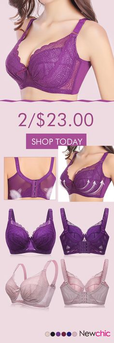 Plus Size Sexy Push Up Minimizer Lace Busty Bras. These are pretty. Plus Size Bra, Plus Size Lingerie, Sexy Lingerie, Bustiers, Look Fashion, Fashion Outfits, 80s Fashion, Sport Outfit, Lace Bustier