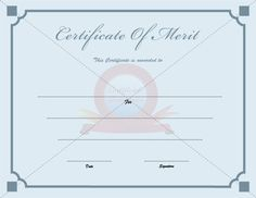 Free Template For Certificate Certificate Of Achievement  Certificates  Pinterest  Certificate .