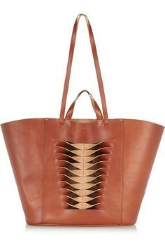 Tan leather (Cow) Open top Designer color: Cognac