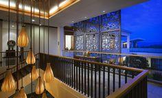 广西古象温泉度假酒店,餐厅中庭. Image © shenzhen Rongor Design & Consultant Co., Ltd