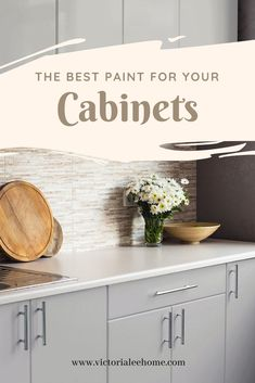 The best paint for your cabinets. Repaint your kitchen in one day with Nuvo. Updated Kitchen, Diy Kitchen, Kitchen Design, Interior Design Tips, Interior Decorating, Decorating Ideas, Nuvo Cabinet Paint, Old Wallpaper, Cool Paintings