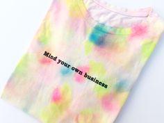 Lila&Sirena: DIY   Tie-Dye T-Shirt