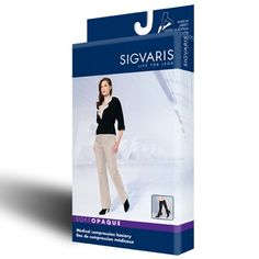 6e2a1878729 Sigvaris Soft Opaque Womens Knee High Support Compression Socks 15-20 mmHg