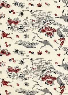 Katazome-shi literally means stencil-dyed (katazome) papers (-shi), and is also referred to as Japanese Flowers, Japanese Paper, Japanese Fabric, Japanese Prints, Vintage Japanese, Japanese Design, Textiles, Textile Prints, Textile Patterns