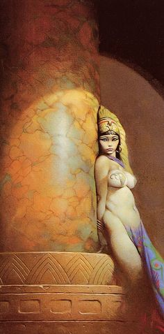 #Frank_Frazetta. /Reminds me of the girl in the movie Conan the Barbarian, love that movie EL/